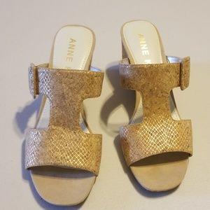 Anne Klein nilli dress sandle wedge